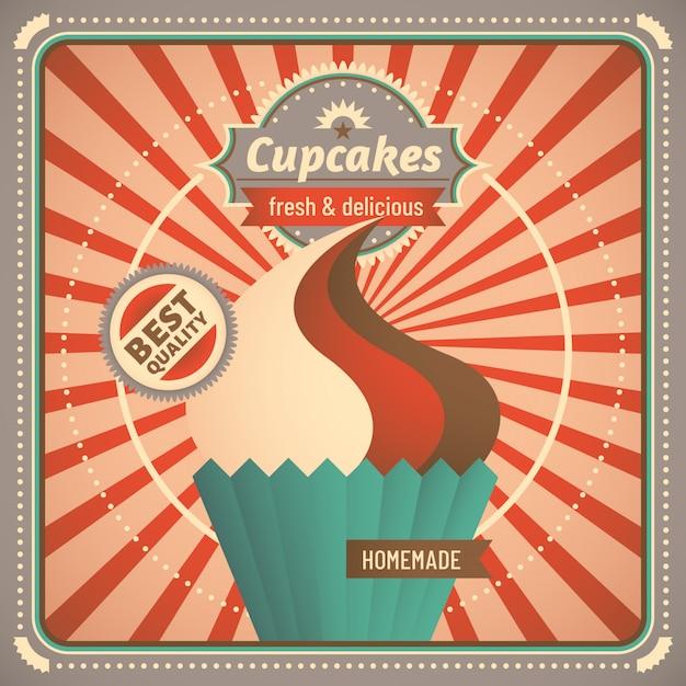 Disegno Di Sfondo Cupcake Scaricare Vettori Premium