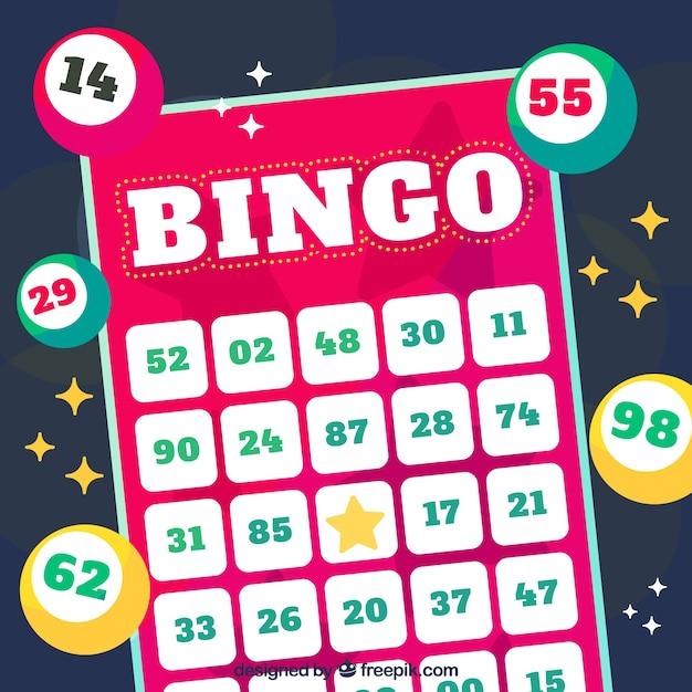 Disegno di sfondo del bingo Vettore gratuito