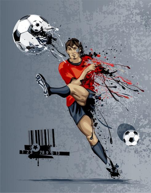 Disegno di sfondo del calcio Vettore gratuito