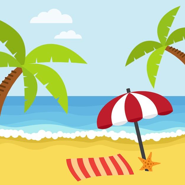 Disegno di sfondo della spiaggia scaricare vettori gratis for Disegno della casa sulla spiaggia