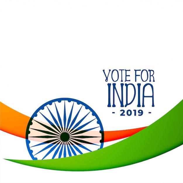 Disegno di sfondo indiano elezioni 2019 Vettore gratuito