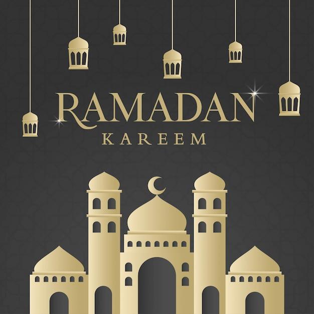 Disegno di sfondo islamico ramadan kareem Vettore Premium