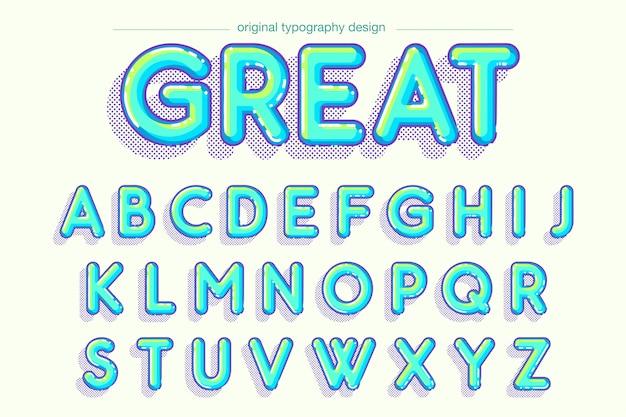 Disegno di tipografia vivace bolla vibrante Vettore Premium