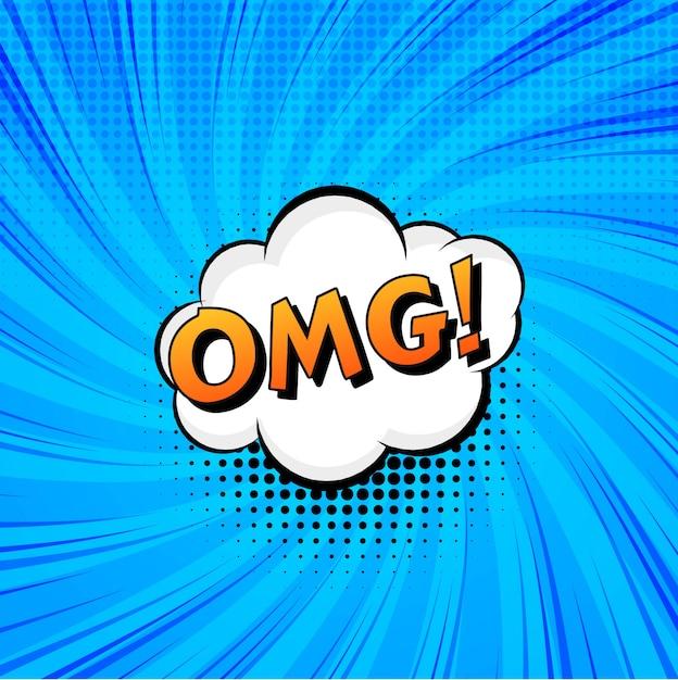 Disegno di vettore comico blu bella arte di schiocco Vettore gratuito