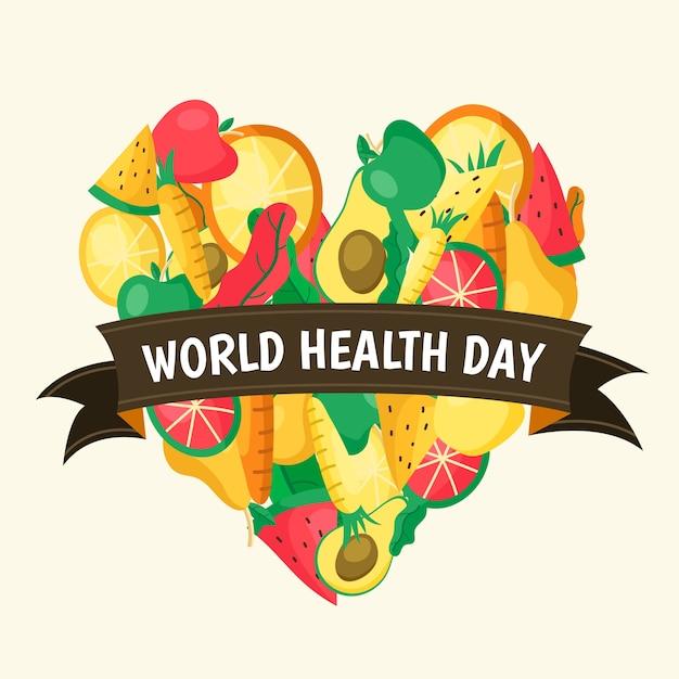 Disegno disegnato a mano giornata mondiale della salute Vettore gratuito