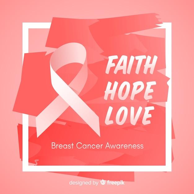 Disegno disegnato a mano per l'evento di sensibilizzazione sul cancro al seno Vettore gratuito