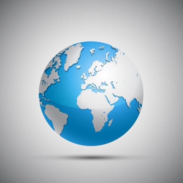 Disegno globo terrestre Vettore gratuito