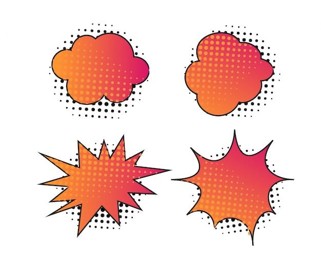 Disegno grafico colorato astratto della bolla con il semitono Vettore Premium