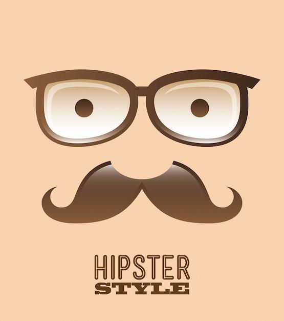 Disegno hipster su sfondo rosa illustrazione vettoriale Vettore Premium