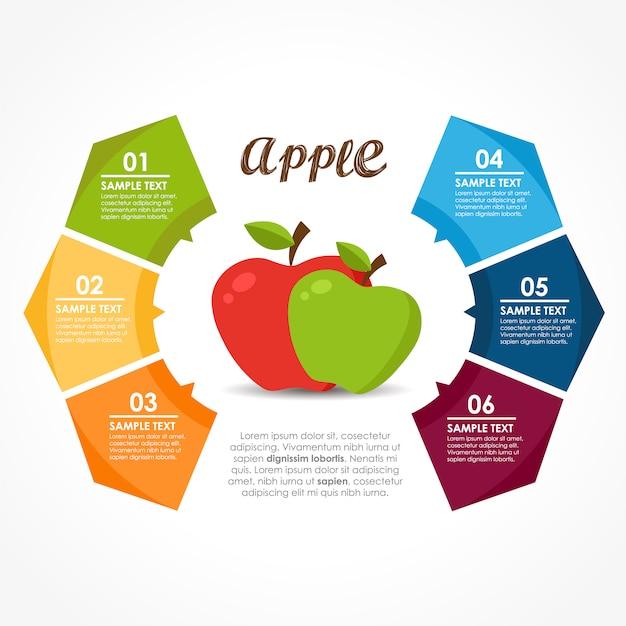 Disegno infografico di frutta Vettore gratuito