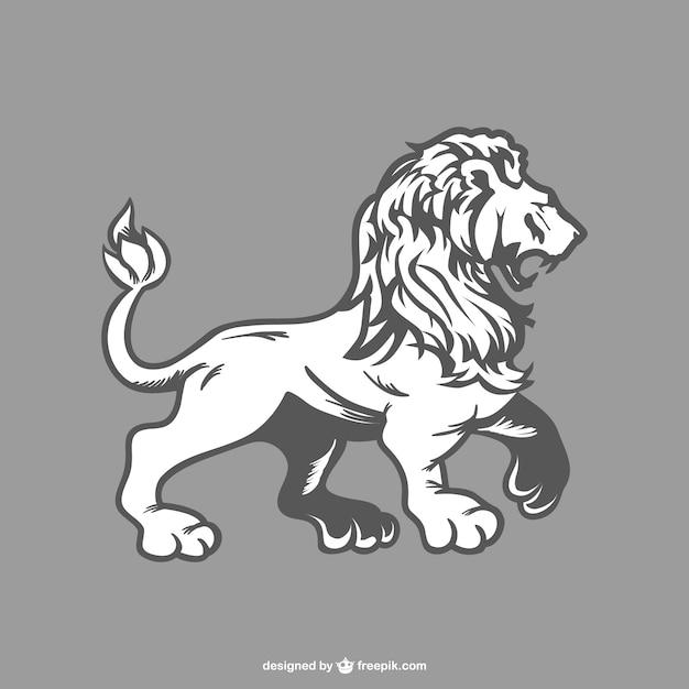 Disegno leone vettore Vettore gratuito