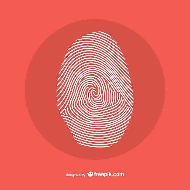 Disegno linea di impronte digitali Vettore gratuito