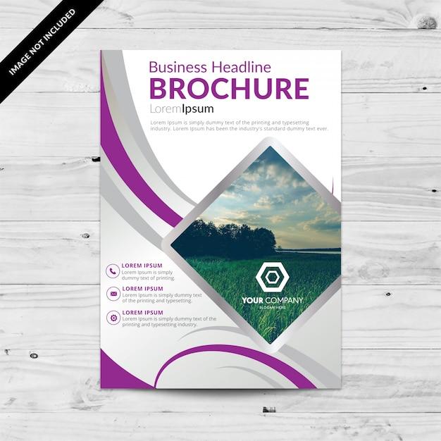 disegno modello di brochure Vettore gratuito
