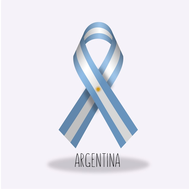 Disegno nastro bandiera argentina Vettore gratuito