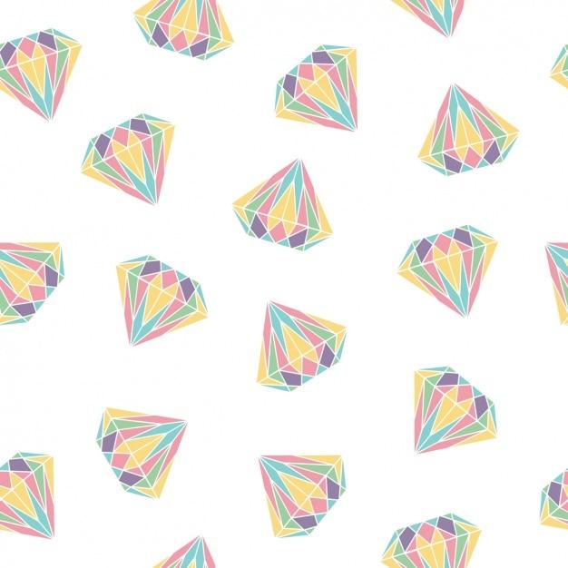 Disegno pattern di diamanti Vettore gratuito