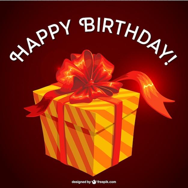 Famoso Disegno regalo di compleanno vettoriale | Scaricare vettori gratis WS84