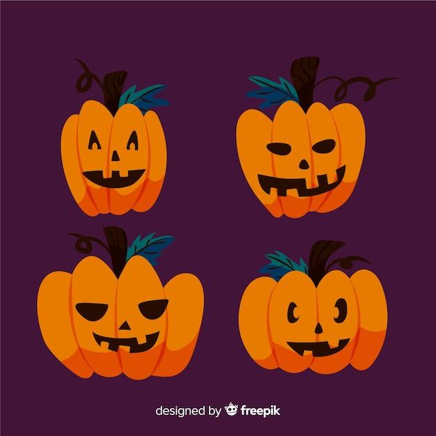 Disegno semplicistico della zucca di halloween Vettore gratuito