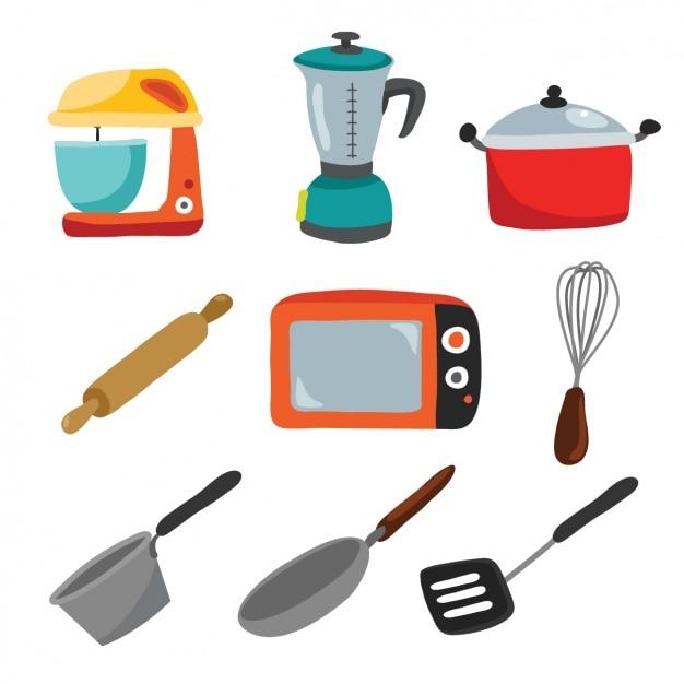 Disegno utensili da cucina Vettore gratuito
