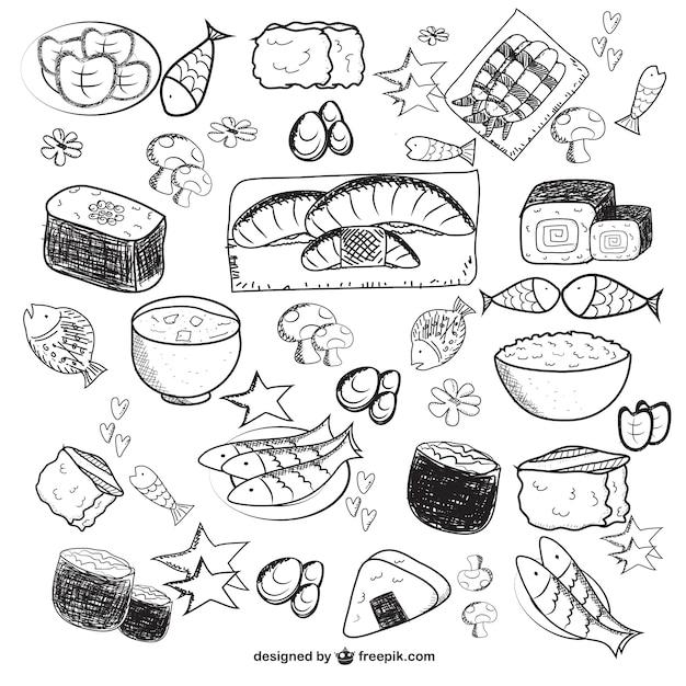 Disegno vettoriale cibo Vettore gratuito