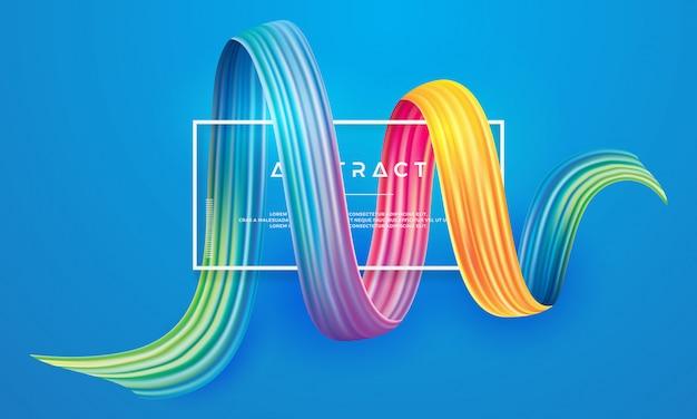 Disegno vettoriale colorato, moderno, flusso. Vettore Premium