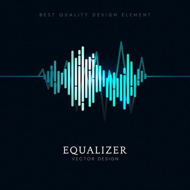Disegno vettoriale dell'equalizzatore dell'onda sonora Vettore gratuito