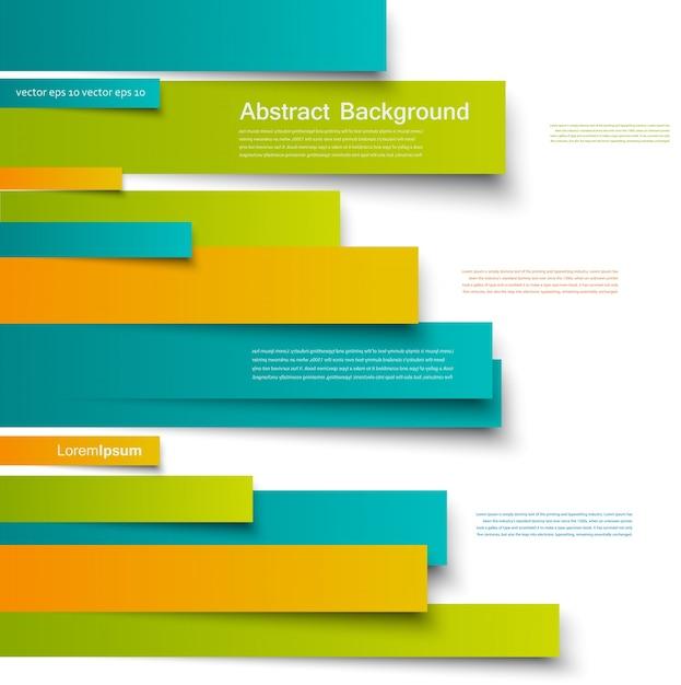 Disegno vettoriale. scheda brochure linee astratte Vettore gratuito