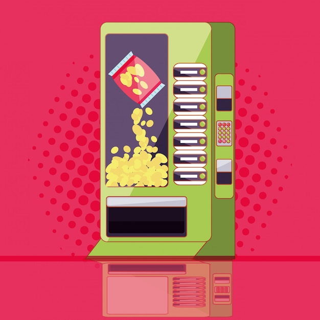 Dispenser di chip machine elettronico Vettore Premium