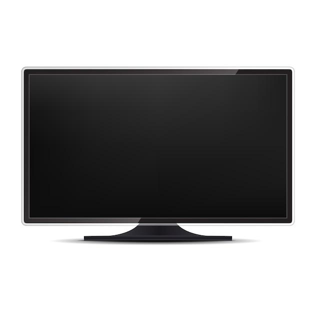 Display del monitor del computer. Vettore Premium