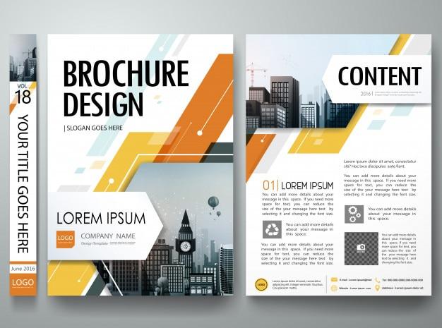 Disposizione del manifesto del portafoglio dei volantini del libro della copertura dell'opuscolo Vettore Premium