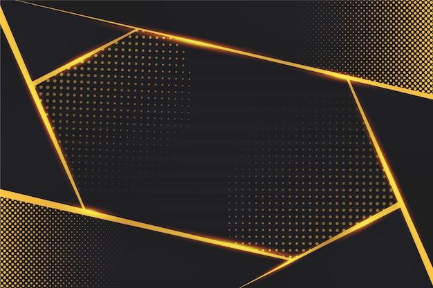 Dissolvenza di punti e linee dorate su fondo scuro Vettore gratuito
