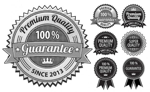 Distintivi d'epoca Vettore Premium