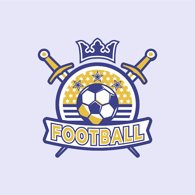 Distintivi di calcio Vettore Premium