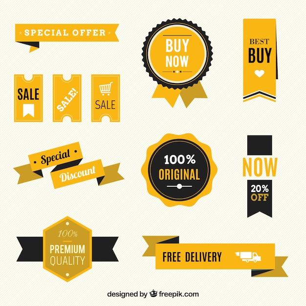 Distintivi di vendita Vettore gratuito