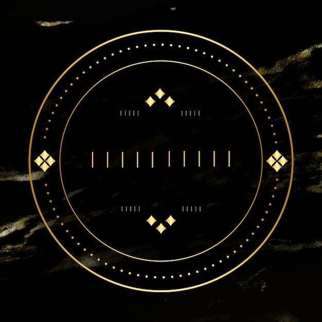 Distintivo bianco d'oro Vettore gratuito