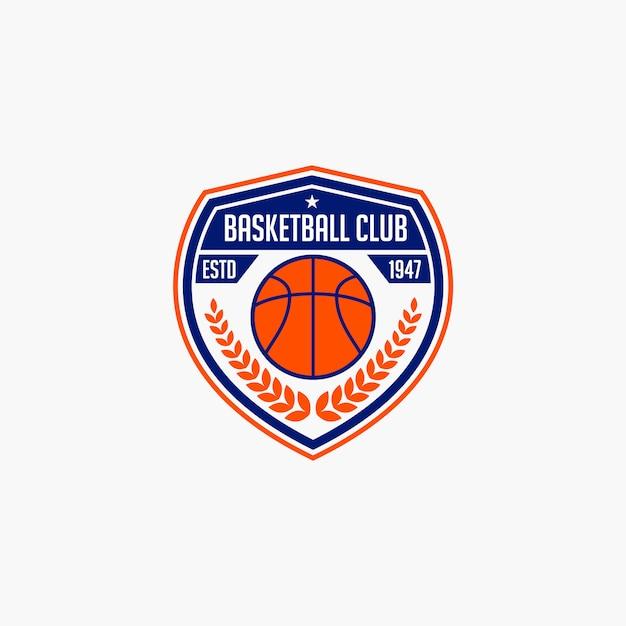 Distintivo del club di basket Vettore Premium