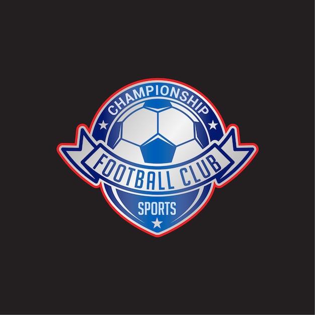 Distintivo del club di calcio Vettore Premium