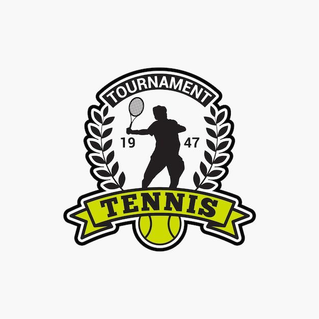 Distintivo del tennis club Vettore Premium