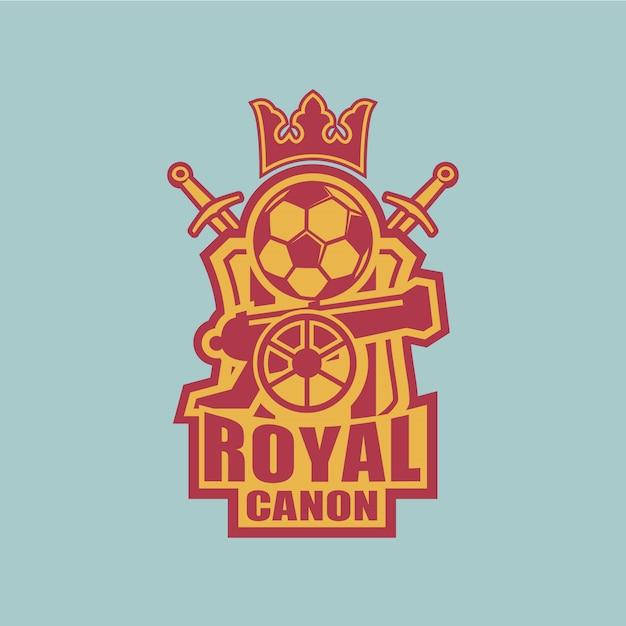 Distintivo della squadra di calcio Vettore Premium