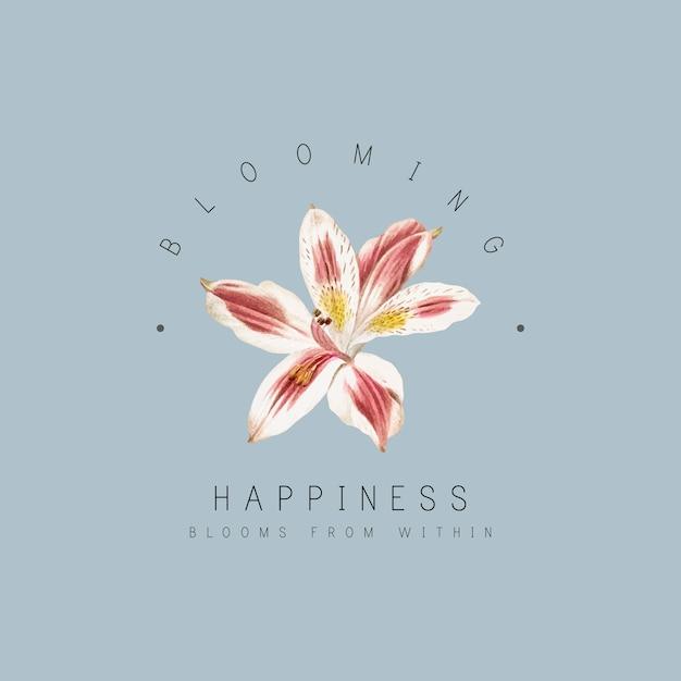 Distintivo di fiori di giglio Vettore gratuito
