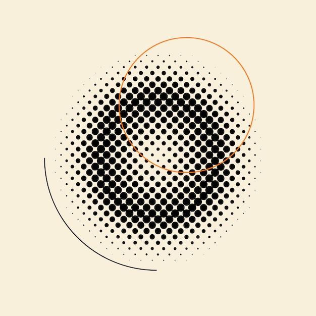 Distintivo di semitono vintage nero su sfondo beige Vettore gratuito