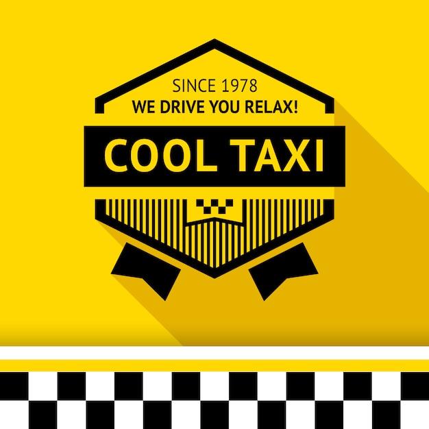 Distintivo di taxi con ombra - 02 Vettore Premium