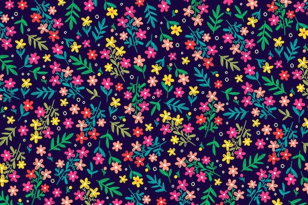 Ditsy sfondo floreale Vettore gratuito