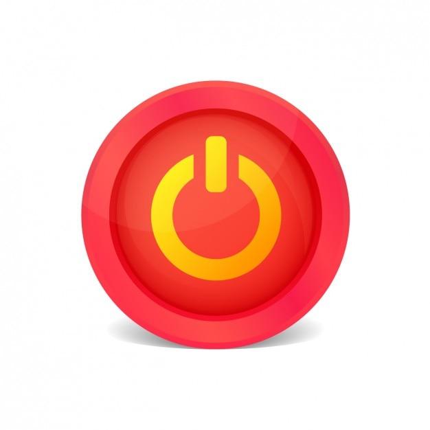 Diventa rosso pulsante on / off Vettore gratuito