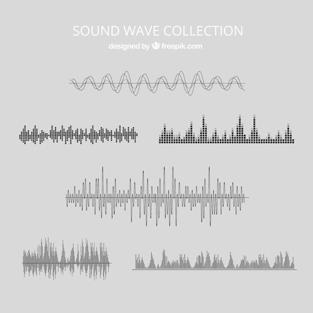 Diverse le onde sonore Vettore gratuito
