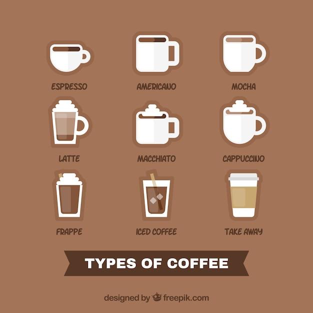 Diversi tipi di caff scaricare vettori gratis - Diversi tipi di trecce ...