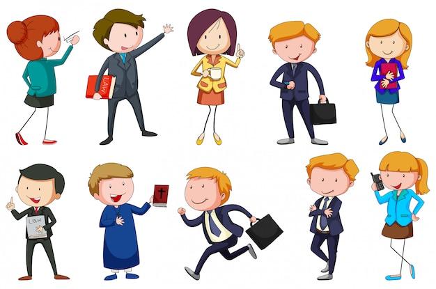 Diversi tipi di occupazioni Vettore gratuito