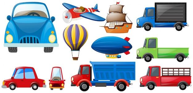 Diversi tipi di trasporti Vettore gratuito