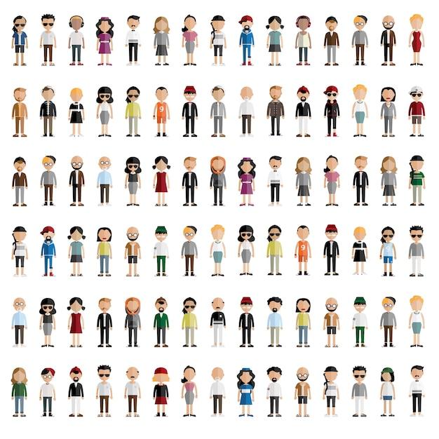 Diversità community people Vettore gratuito
