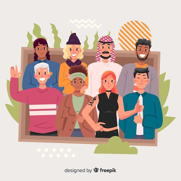 Diversità culturale Vettore gratuito