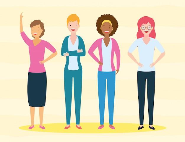 Diversità donna Vettore gratuito